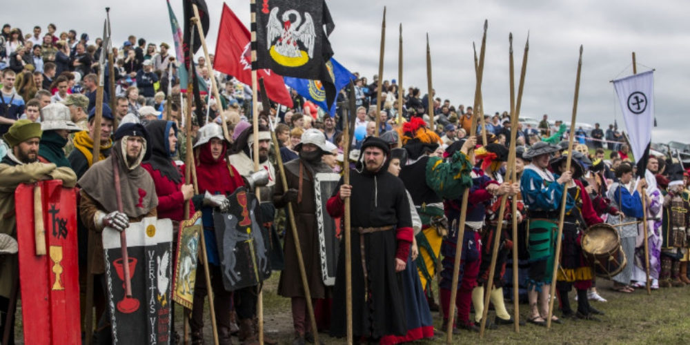 """The annual festival of historical reconstruction """"Siberian Fire"""" was held in Novosibirsk"""